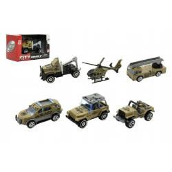 Auto vojenské 6cm kov/plast asst mix druhů v krabičce
