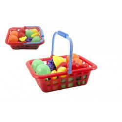 Ovoce/zelenina v nákupním košíku 28cm plast 12ks v síťce