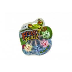 Žába lezoucí po skle sliz plast 4ks na kartě 18x20x1cm