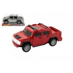Auto terénní pick-up plast 17cm asst 2 barvy na setrvačník v blistru