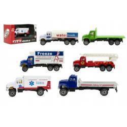 Auto kamion nákladní kov 9cm asst 6 druhů v krabičce