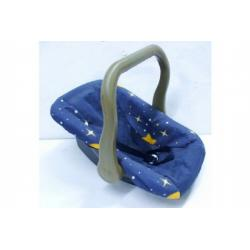 Nosítko/autosedačka s látkovým potahem pro miminko/panenku plast 48x33cm