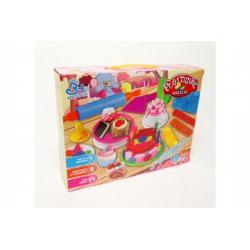 Modelína/plastelína cupcaky/dortíky + doplňky 15ks v krabici 32x24x8cm