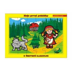 Puzzle deskové O Červené Karkulce 26x17cm 24 dílků Moje první pohádky