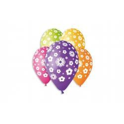 Balonek nafukovací květiny 12'' průměr 30cm 5ks v sáčku