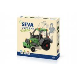 Stavebnice Seva Doprava Traktor plast 384 dílků v krabici 35x33x5cm 5+