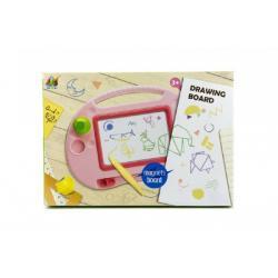 Magnetická tabulka kreslící plast asst 2 barvy v krabici 40x28x4cm