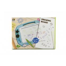 Magnetická tabulka kreslící plast asst 2 barvy v krabici 33x24x3cm