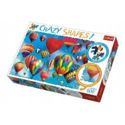 Puzzle Barevné balóny 600 dílků Crazy Shapes 68x48cm v krabici 40x27x6cm