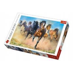 Puzzle Stádo koní 2000 dílků 96x68cm v krabici 40x27x6cm