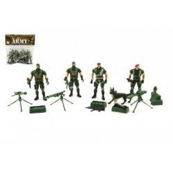 Sada vojáci 4ks s doplňky plast CZ design na kartě 18x19,5cm