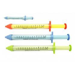 Vodní trubice stříkačka plast 55cm asst 3 barvy v síťce