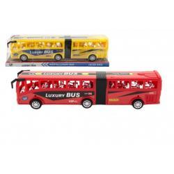 Autobus plast 47cm na setrvačník asst 2 barvy v blistru