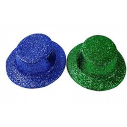 Klobouk party se třpytkami plast 29cm asst 2 barev karneval