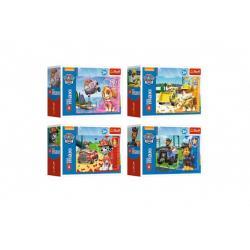 Minipuzzle miniMAXI 20 dílků Paw Patrol/Tlapková patrola 4 druhy v krabičce 11x8x4cm 24ks v boxu