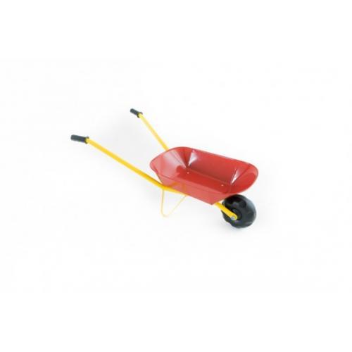 Kolečko plechové červené 75x30x40cm v sáčku