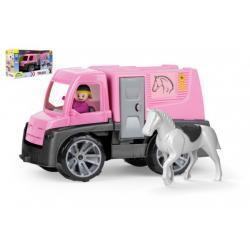 Auto Truxx přeprava koní s figurkami plast 26cm v krabici 39x22x16cm 24m+