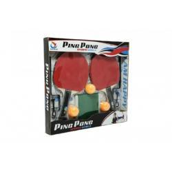 Sada na stolní tenis 2 pálky s doplňky v krabici 37x34x4cm