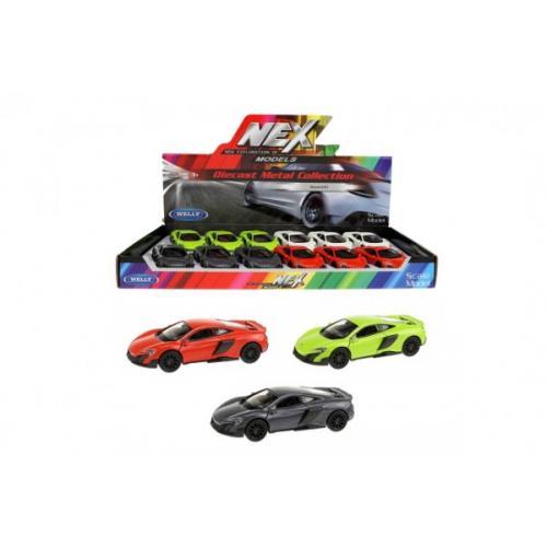 Auto Welly McLaren coupe 12cm kov 4 barvy 12ks v boxu