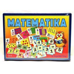 Matematika 4 logické hry společenská hra v krabici 29x20x4cm