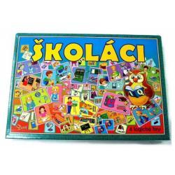 Školáci 4 logické hry společenská hra v krabici 29x20x4cm