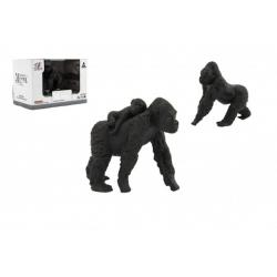 Zvířátka safari ZOO 8cm sada plast gorila 2 druhy v krabičce 16x11x9,5cm