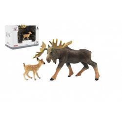Zvířátka safari ZOO 12cm los plast 2ks v krabičce 16x11x9,5cm