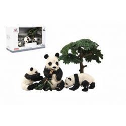 Zvířátka safari ZOO 10cm sada plast 4ks panda 2 druhy v krabičce 22x13x9,5cm