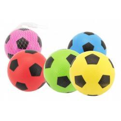 Míček fotbal guma 12cm mix barev v síťce