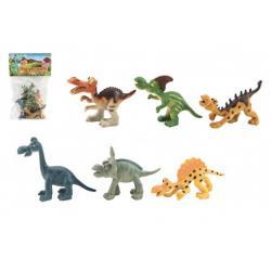 Dinosaurus plast 9-11cm 6ks v sáčku