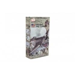 Letadlo model Vought F4U Corsair 4D plast mix druhů v krabici 13x22x4,5cm 6ks v boxu