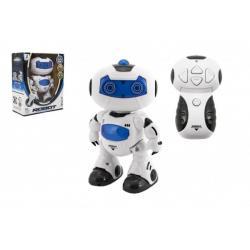 Robot RC chodící plast 20cm EN mluvící na bat. se světlem se zvukem v krabici 22x26x10,5cm