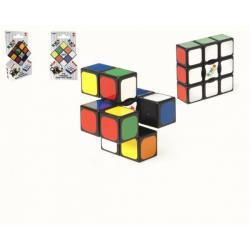 Rubikova kostka hlavolam EDGE 3x3x1 plast 6x6x2cm na kartě