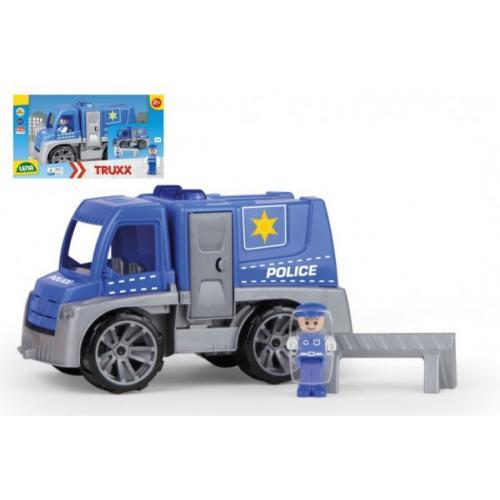 Auto Truxx policie plast 29cm s figurkou v krabici 39x22x16cm 24m+