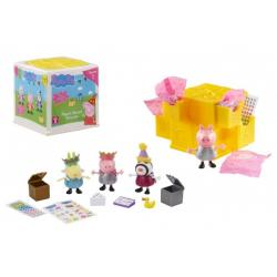 Prasátko Peppa/Peppa Pig tajemné překvapení plast figurka s doplňky v plastové krabičce 7,5x7,5x8cm