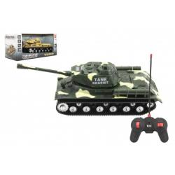 Tank RC T-34/85 plast 25cm na baterie se zvukem se světlem 2 druhy v krabici 28x13x12cm