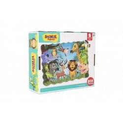 Puzzle safari ZOO 64x90cm 208ks v krabici 28x24x9cm