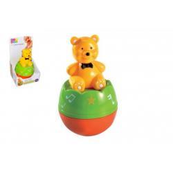 Medvídek Roly Poly Maamaa 10x15cm se zvukem v krabičce 11,5x10x20cm 6m+