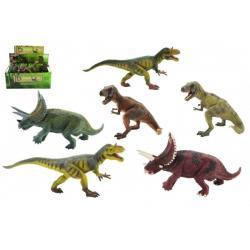 Dinosaurus plast 23-30cm mix druhů v sáčku 6ks v boxu
