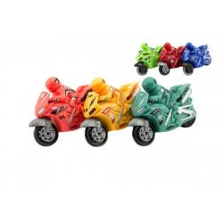 Motorka plast 10cm na setrvačník 6 barev 12ks v boxu