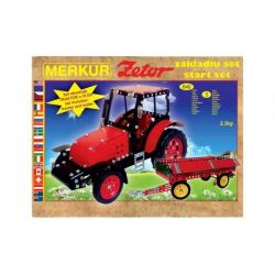 Stavebnice MERKUR Zetor základní set 646ks 3 vrstvy v krabici 36x27x8,5cm