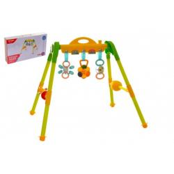 Hrazda pro děti plast s chrastítky v krabici 51x29x9cm 0m+