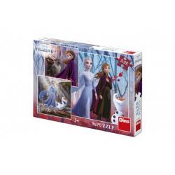 Puzzle 3v1 Ledové království II/Frozen II 3x55dílků v krabici 27x19x4cm
