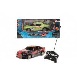 Auto RC závodní plast 20cm na dálkové ovládání 2 barvy na baterie v krabici 29x13x14cm