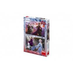 Puzzle 2v1 Ledové království II/Frozen II 2x77dílků v krabici 19x27,5x4cm