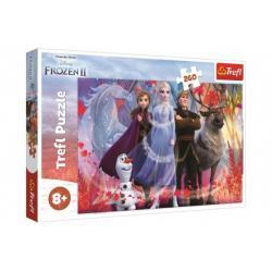 Puzzle Ledové království II/Frozen II 260 dílků 60x40cm v krabici 40x27x4cm