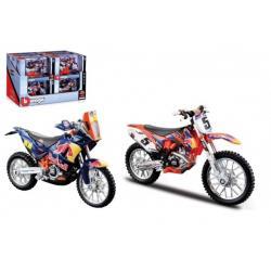 Motorka Bburago 1:18 Red Bull Race 11cm kov/plast 2 druhy v krabičce 17x11x7cm 12ks v boxu