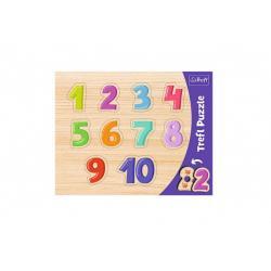 Vkládačka/Puzzle deskové obrysové čísla 37x29cm ve fólii