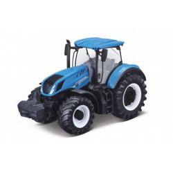 Traktor Bburago Fendt 1050 Vario/New Holland kov/plast 13cm 2 druhy v krabičce 15x11x8cm