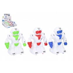 Robot na setrvačník 12 cm plast 3 barvy 12ks v boxu